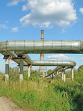Industrial area. Basic trunk pipeline Royalty Free Stock Image