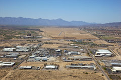 Industrial Area in Chandler. Aerial view of Industrial Park in Chandler, Arizona near Interstate 10 Royalty Free Stock Photography