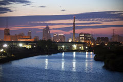 Industrial area by Chicago River Stock Photography