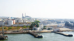 Industrial area on the coast of Tunisia Royalty Free Stock Photo