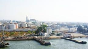 Industrial area on the coast of Tunisia Royalty Free Stock Photo