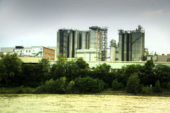 Industrial area Royalty Free Stock Images