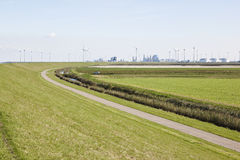 Industrial area Eemshaven, Groningen, Netherlands Stock Photos