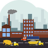 Industrial area, factory Royalty Free Stock Image