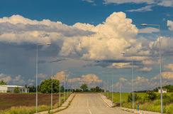 Industrial area. An Image of Industrial Area with beautiful clouds Stock Images