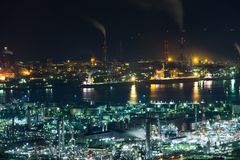 Industrial area in Japan Royalty Free Stock Photo