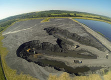 Industrial area. Land degraded by industry. Poland Stock Photos