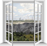 Industrial area of lignite mine. Royalty Free Stock Photography