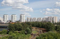 Industrial Area metropolis, Moscow, Russia Royalty Free Stock Photography