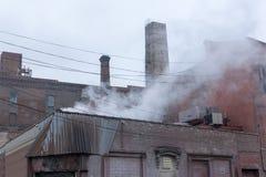 Industrial area in New York City`s Williamsburg neighborhood, in Brooklyn stock image