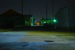 Industrial Area at Night Stock Photography