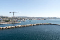 Industrial area in the port of Marseille Stock Image