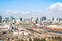 Industrial area in San Diego downtown - California Stock Image