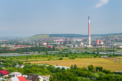 Industrial area of Suceava city Royalty Free Stock Photo