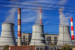 Industrial area,thermal power plant Royalty Free Stock Photography
