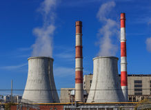 Industrial area,thermal power plant Stock Image