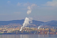 Industrial area Trieste Royalty Free Stock Photo