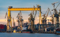 Free Industrial Areas Of The Shipyard In Szczecin Stock Photography - 140342322
