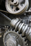 Industrial Art Concept, Gear, Screw, Wheel Stock Photo