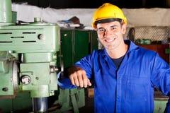 Industrial artisan. Happy industrial artisan portrait in workshop Stock Photos