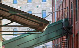 Industrial awning Stock Image