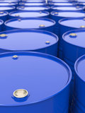 Industrial Background with Barrels. Industrial Background with Blue Barrels Royalty Free Stock Photos