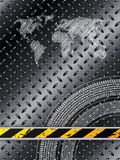 Industrial background in black with tire treads Stock Image
