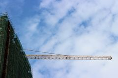 Industrial background with crane Royalty Free Stock Photos