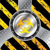 Industrial background design with bio hazard sign Royalty Free Stock Photo