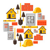 Industrial background design with housing Stock Images