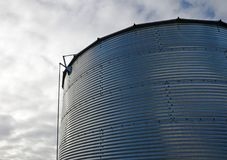 Industrial background of a farm silo Royalty Free Stock Images