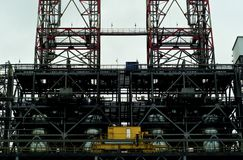 Industrial background with a fragment of some industrial construction Stock Photo