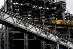 Industrial background with a fragment of some industrial construction Stock Photography