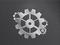 Industrial background with gears Royalty Free Stock Images