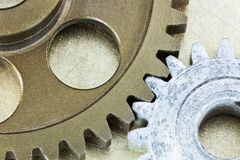 Industrial background with machine metal cogwheels Royalty Free Stock Image
