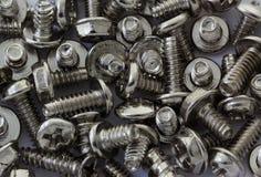 New screw pile background Stock Image