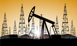 Industrial background oil production Royalty Free Stock Photography