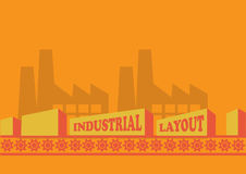 Industrial Background Page Layout Template Royalty Free Stock Image