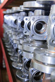 Industrial background from part of valves Stock Photography