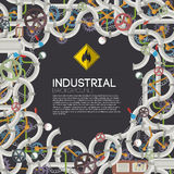 Industrial background with text fields Stock Photo