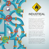 Industrial background with text fields Stock Photography