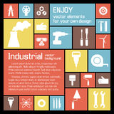 Industrial background with text fields Royalty Free Stock Photos