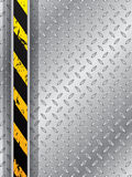 Industrial background with tire track and striped bar Royalty Free Stock Images