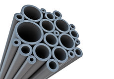 Industrial background with tubes Stock Image