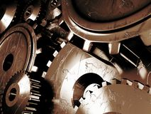 Industrial Background With A Lots Of Gears Stock Images