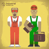 Industrial background workman Stock Photo
