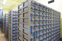 Industrial backup power system Stock Image