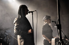Industrial band Laibach performs live on the stage Royalty Free Stock Photo