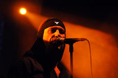 Industrial band Laibach performs live on the stage Stock Images
