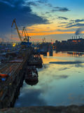 Industrial banks of the Dnieper Royalty Free Stock Photo